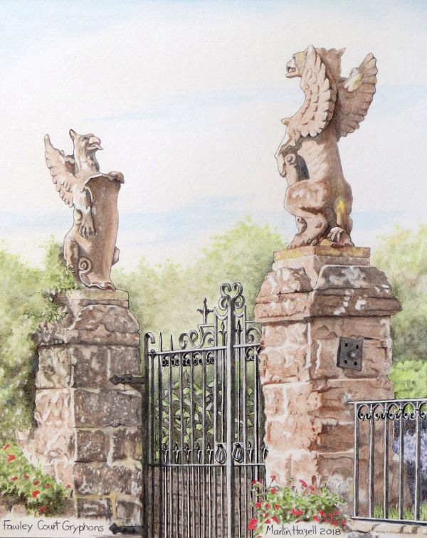 The Gryphons at Fawley Court, Herefordshire