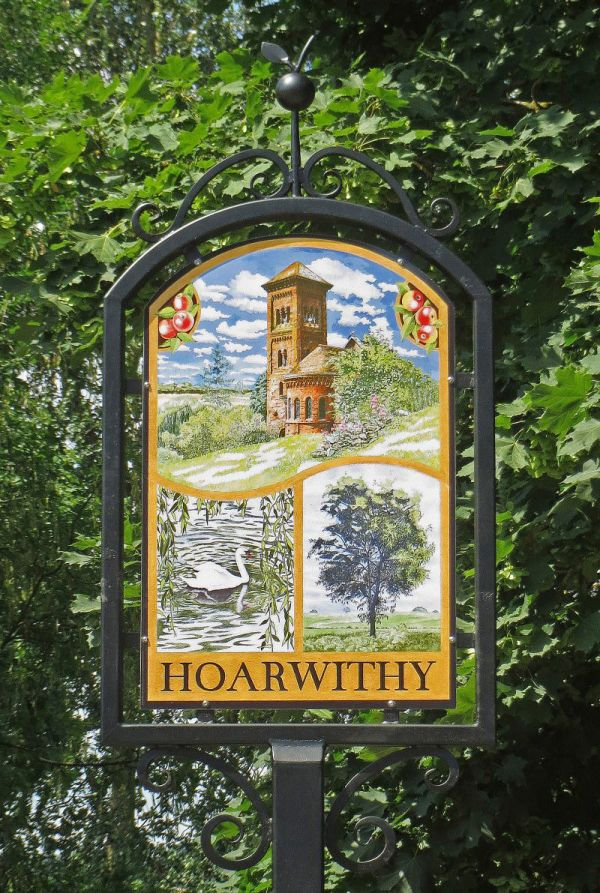 Hoarwithy Village Sign, Herefordshire